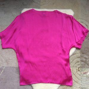 loose pink bat wing top no tags